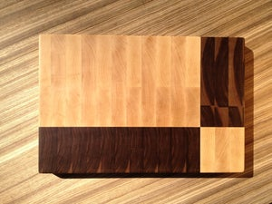 Image of Geometric End Grain Cutting Board 2