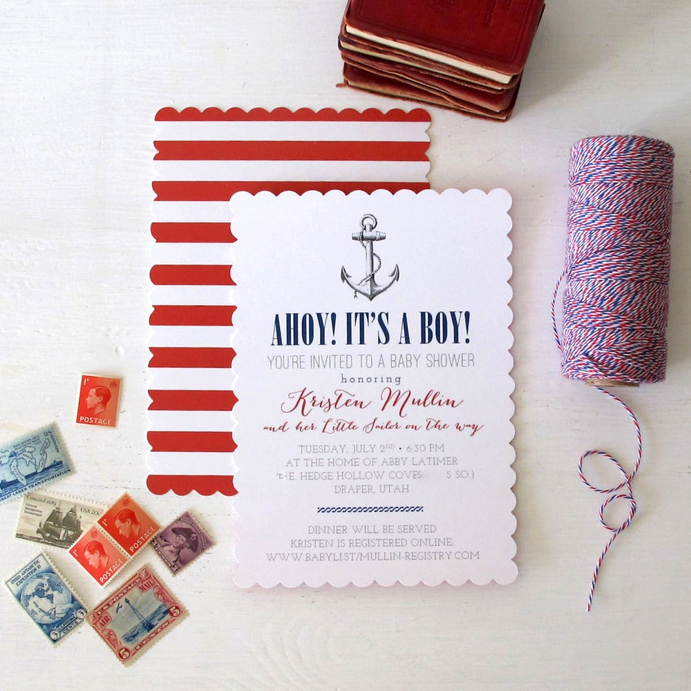 Image of AHOY! Nautical Invitation