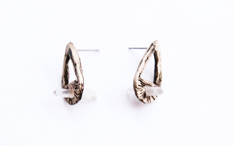 Image of Hallowed Ground Teardrop Earrings