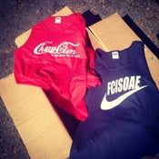 """Image of Five Characters In Search of an Exit """"COKE"""" and/or """"NIKE"""" Tank Tops"""