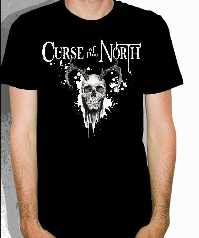 Image of Bearded Skull T-Shirt(Black)
