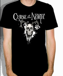 Image of Bearded Skull T-Shirt(Black)