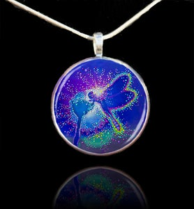 Image of Blue Dragonfly Pendant - Emits powerful life-force energies