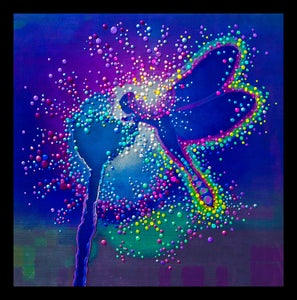 """Image of Blue Dragonfly  - Emits powerful """"life-force"""" energies - Giclee Print"""