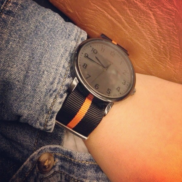 Image of Black/Orange Nato Strap