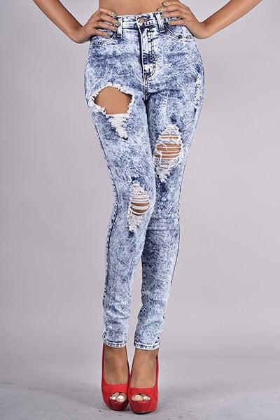 Image of Destroyed Acid Jeans