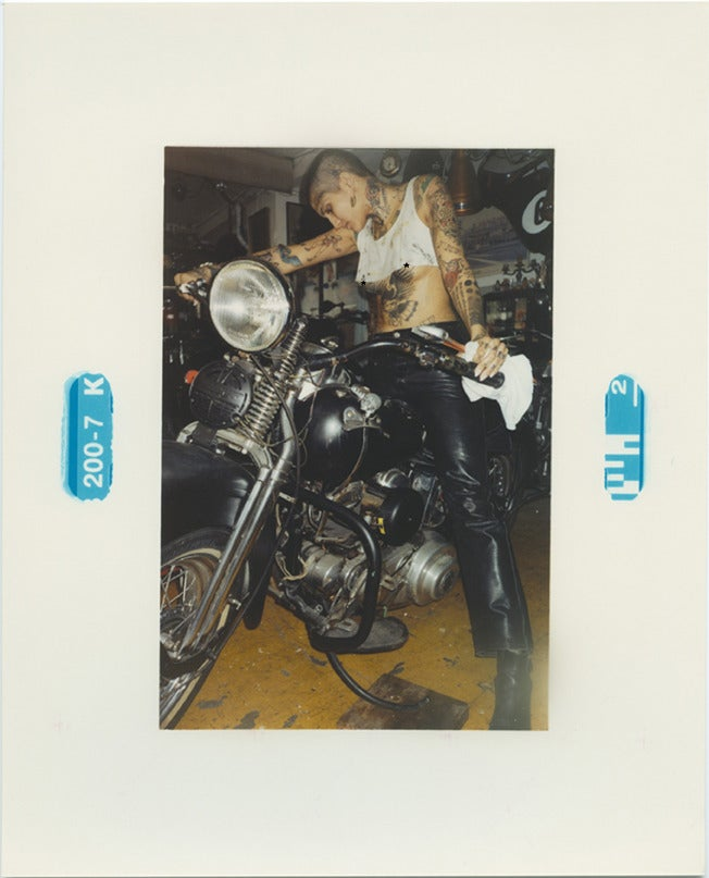 Image of Harley Davidson WLA 1942 with PinUp