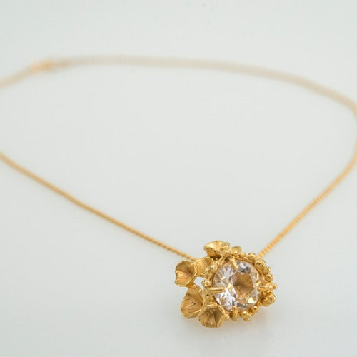 Image of Encrusted Blossom Pendant...