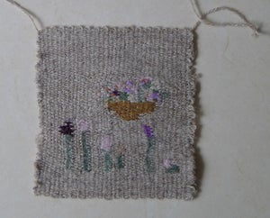 Image of arranging flowers (wall hanging 5)