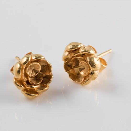 Image of Rose Cup Studs.