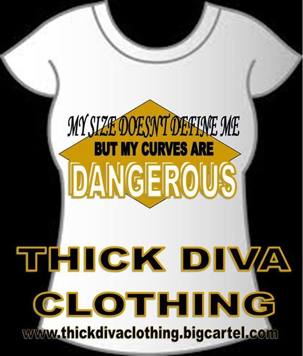 Thick Diva Clothing Fundraiser Tee Dangerous Curves