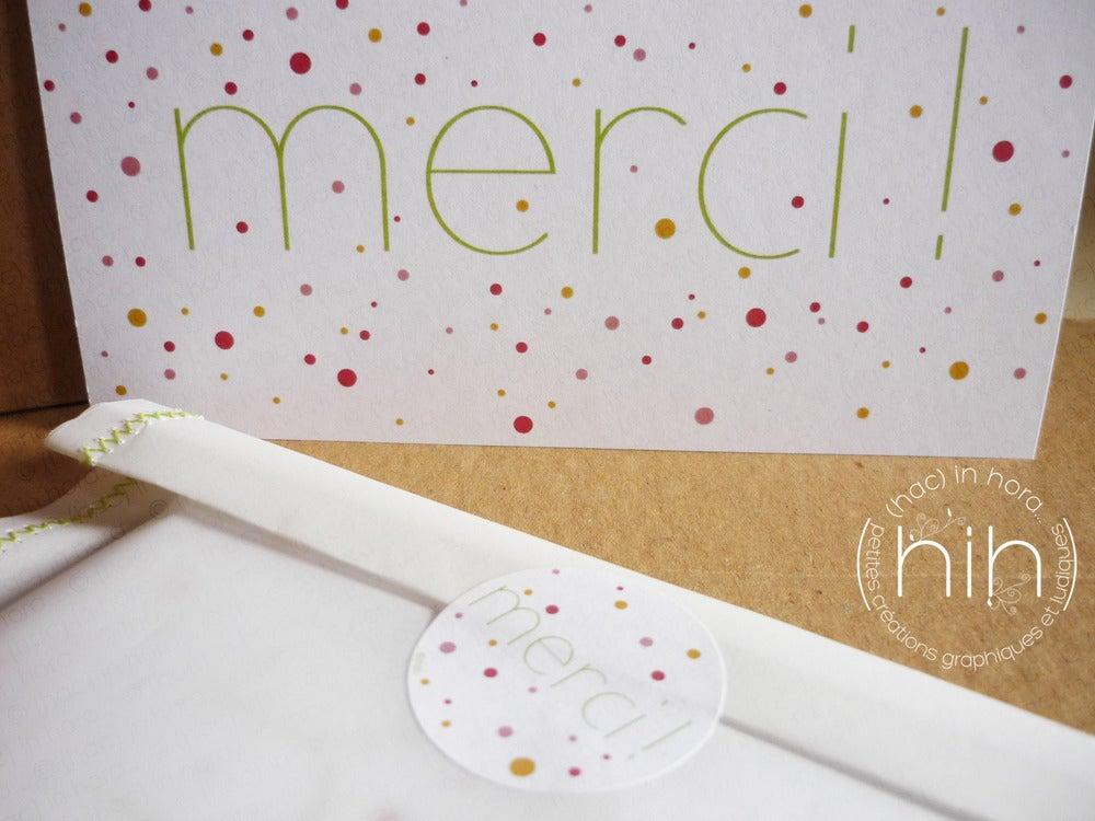 "Image of stickers ∴confettis∴ ""merci!"" Ø3,1cm"