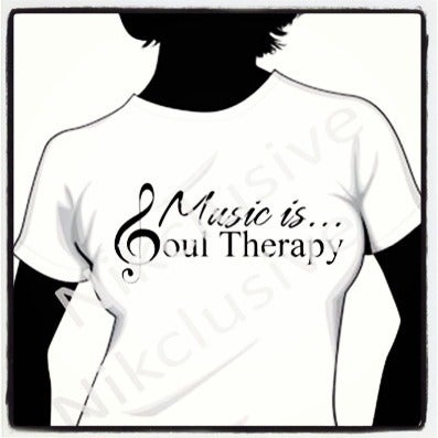 Image of Music is... Soul Therapy Ladies Tee