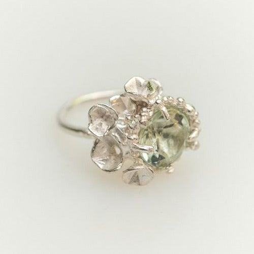 Image of Encrusted Blossom Ring.