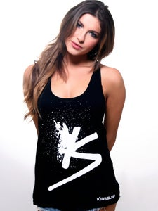Image of Women's Black Splatter Tank