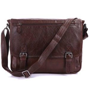 """Image of Handmade Vintage Leather Messenger Bag / Satchel / 12"""" Laptop 11"""" 13"""" MacBook Bag (n84L)"""