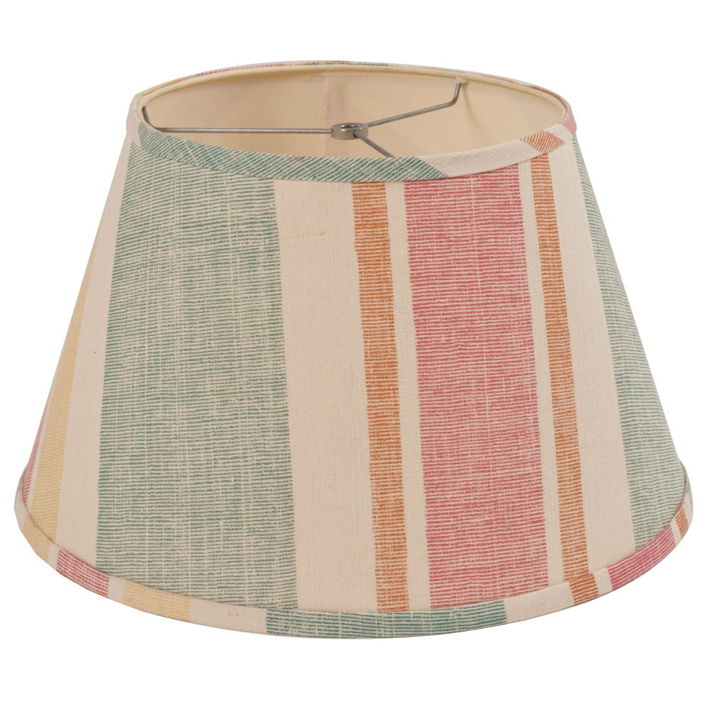 Image of 16 Moroccan Stripe Teal Lampshade