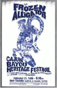 Image of Frozen Alligator Cajun Bayou Heritage Festival Poster (1998)