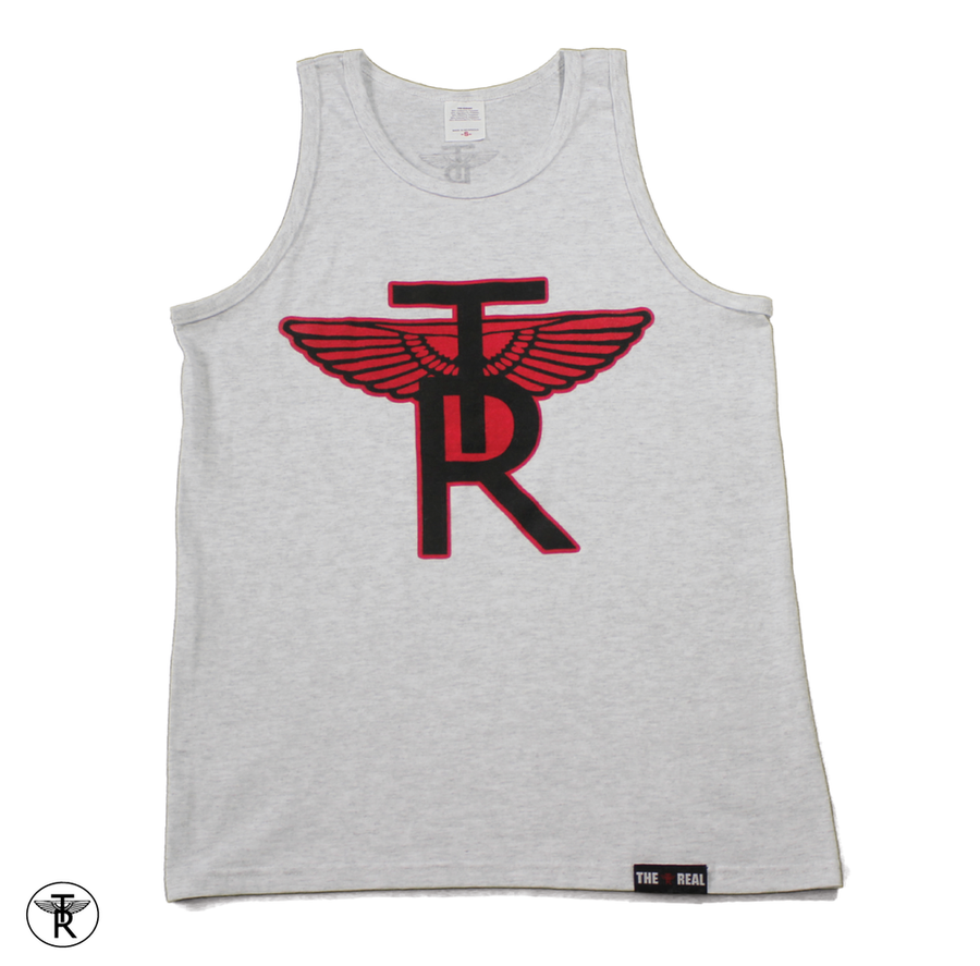 Image of ASH GREY TR Wings TANK TOP SHIRT