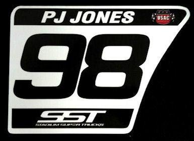 Image of #98 PJ Jones Number Plate