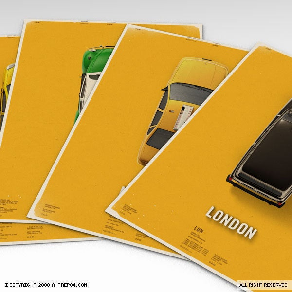 Image of Citycab Poster Set (4 posters)