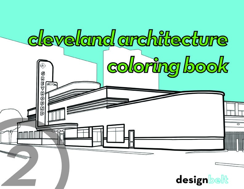 cleveland architecture coloring book designbelt Mosaic Coloring Book  Cleveland Architecture Coloring Book