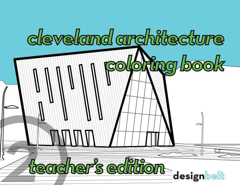 cleveland architecture coloring book teacher  39 s edition designbelt Mosaic Coloring Book  Cleveland Architecture Coloring Book
