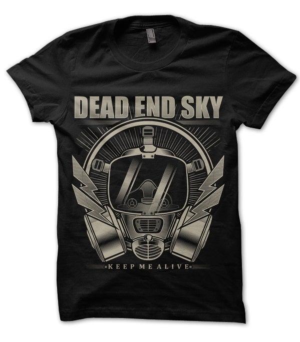 Image of Dead End Sky 'Gasmask' T-shirt