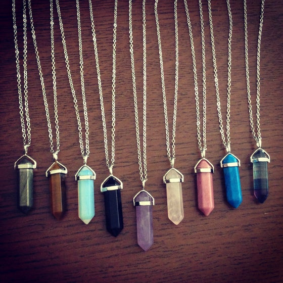 Image of Crystal point necklace