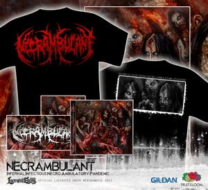 Image of NECRAMBULANT - Infernal Infectious...TS red logo PACKAGE