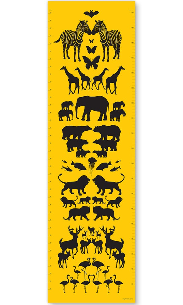 Image of Growth Chart - Animals