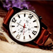 Image of Handmade Watch / Vintage Watch / Wrist Watch / Leather Watch / Quartz Watch (WAT018)