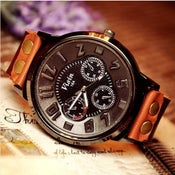 Image of Handmade Watch / Vintage Watch / Wrist Watch / Leather Watch / Mens Quartz Watch (WAT0029)