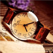 Image of Handmade Watch / Vintage Watch / Wrist Watch / Leather Watch / Quartz Watch (WAT0012)