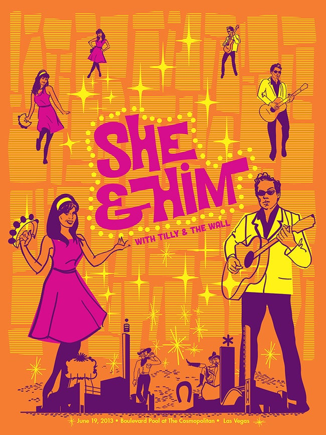 Image of She & Him with Tilly and The Wall Poster