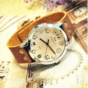 Image of Vintage Cartoon Retro Style Leather Watch Studded Wrist Watch (WAT016)