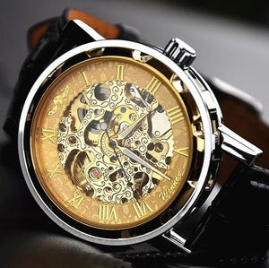 stan vintage watches handmade antique leather watch chain hollow out mechanical watch wat0041. Black Bedroom Furniture Sets. Home Design Ideas