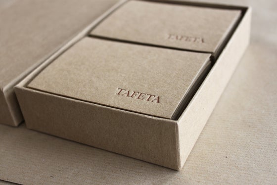 Image of Letterpress Printed Branded Stationery // Boxed set of 80, recycled