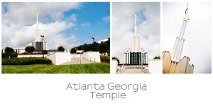 Image of Atlanta Temple Collage 10x20