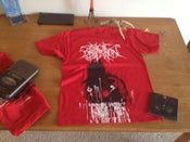 "Image of Stoic Dissention red ""Human' shirt"