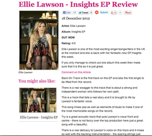 Image of Biography and press release writing by Ellie Lawson