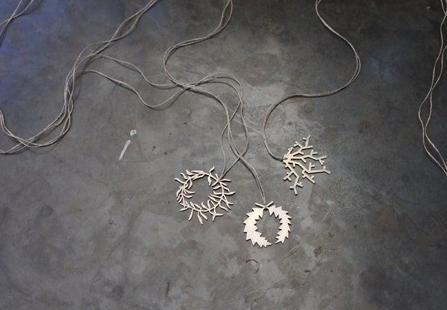 Image of Wreath + Coral Pendants