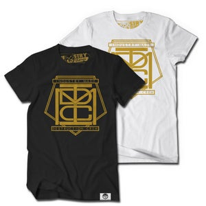 """Image of IMDC """"First Defense"""" Gold Tee"""