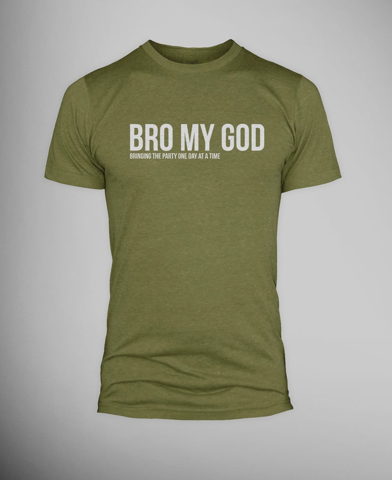 Image of Military Bro My God T-shirt
