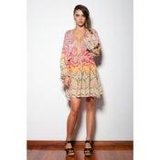 Image of Pepper - Short Kaftan Dress - Multi Colour