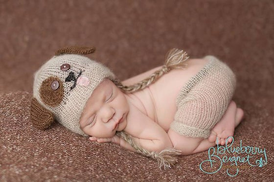 Image of Little Puppy Hat/Short Set