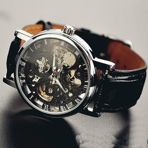 Image of Mens Watch / Vintage Watch / Handmade Watch / Leather Watch / Mechanical Watch (WAT0042)