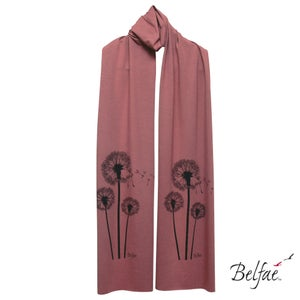 Image of Peony bamboo jersey scarf