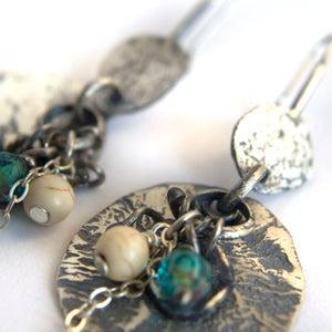 Image of Rustic Sterling Silver Earrings