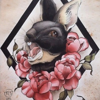 Image of Angry Rabbit - original painting
